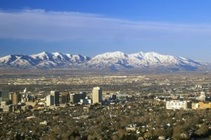 Salt Lake City in the Salt Lake valley