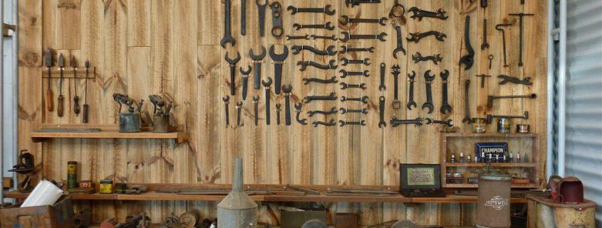 Organized wall in garage