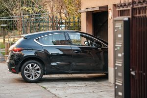 Car parks and blocks sensor