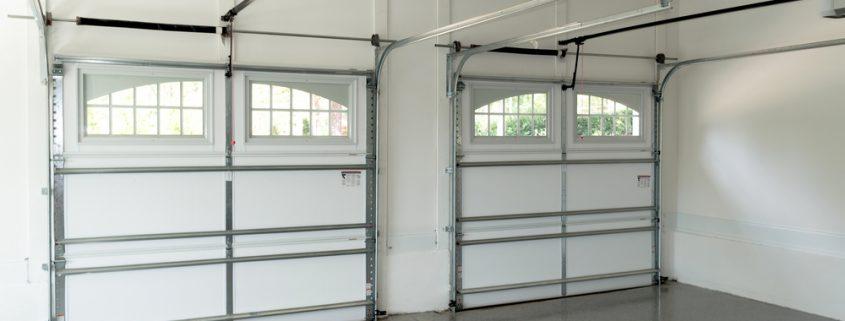 Garage doors with light windows